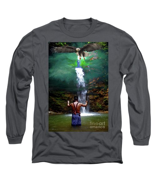 Long Sleeve T-Shirt featuring the photograph Praying To The Spirits by Al Bourassa
