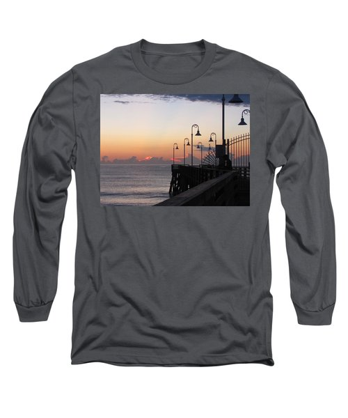 Pre-sunrise On Daytona Beach Pier   Long Sleeve T-Shirt