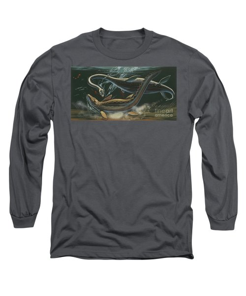 Prehistoric Marine Animals, Underwater View Long Sleeve T-Shirt