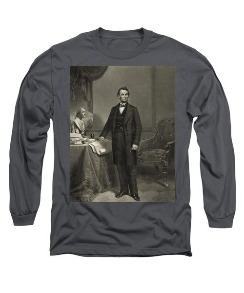 Long Sleeve T-Shirt featuring the photograph President Abraham Lincoln by International  Images