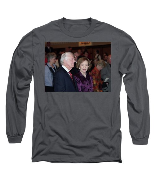 Long Sleeve T-Shirt featuring the photograph President And Mrs. Jimmy Carter Nobel Celebration by Jerry Battle