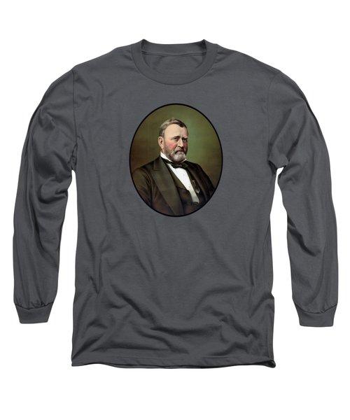 President Ulysses S Grant Portrait Long Sleeve T-Shirt