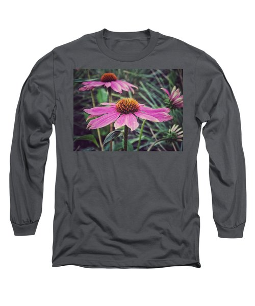 Long Sleeve T-Shirt featuring the photograph Pretty Pink Flower Parasol by Karen Stahlros
