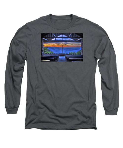 Pretty Place Chapel Sunrise 777  Long Sleeve T-Shirt by Reid Callaway