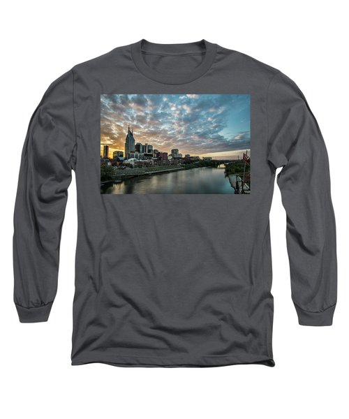 Pretty Sky And Nashville Skyline Long Sleeve T-Shirt