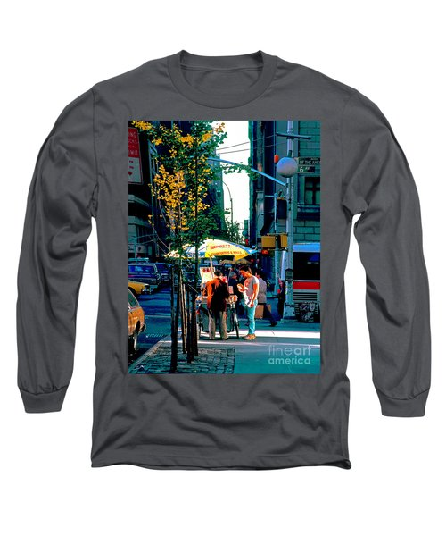 Hot Dog Stand Nyc Late Afternoon Ik Long Sleeve T-Shirt