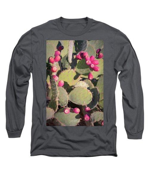 Prickly Pear Cactus Long Sleeve T-Shirt