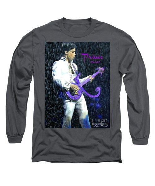 Prince 1958 - 2016 Long Sleeve T-Shirt by Vannetta Ferguson