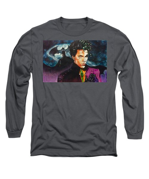 Long Sleeve T-Shirt featuring the painting  Prince Batdance by Darryl Matthews