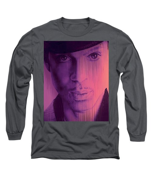Prince - Purple Rain Long Sleeve T-Shirt by Lori Seaman
