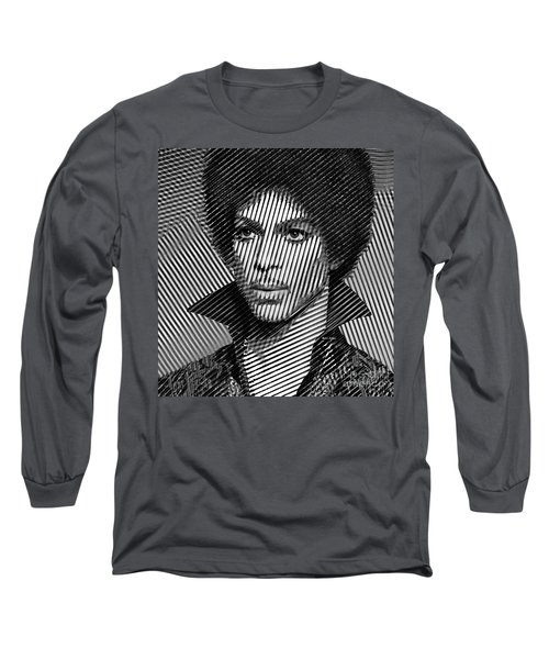 Prince - Tribute In Black And White Sketch Long Sleeve T-Shirt