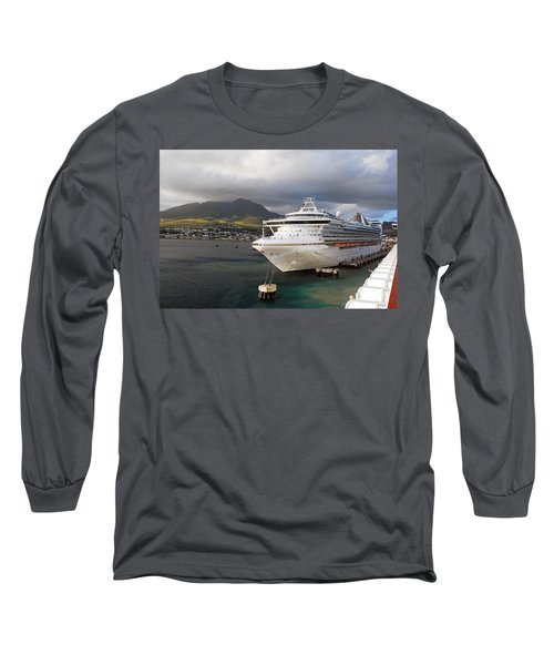 Princess Emerald Docked At Barbados Long Sleeve T-Shirt