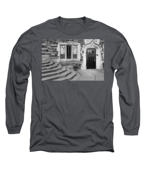 Long Sleeve T-Shirt featuring the photograph Princeton University Lockhart Hall Bw by Susan Candelario