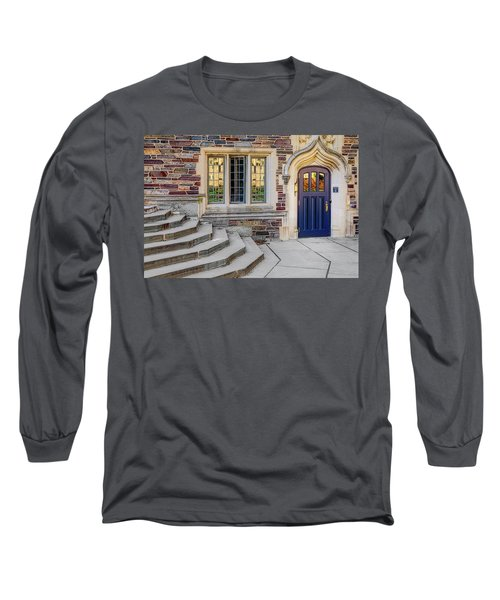 Long Sleeve T-Shirt featuring the photograph Princeton University Lockhart Hall by Susan Candelario