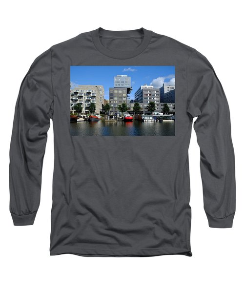Long Sleeve T-Shirt featuring the photograph Prinseneiland Amsterdam by August Timmermans