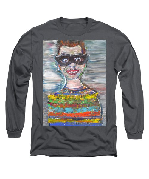 Long Sleeve T-Shirt featuring the painting Probably Reincarnated by Fabrizio Cassetta