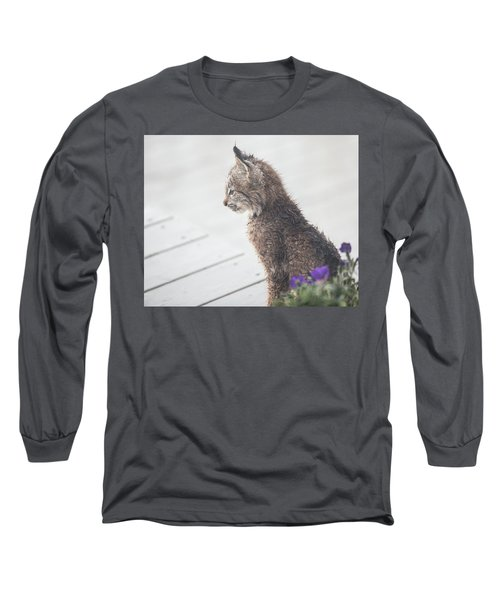 Profile In Kitten Long Sleeve T-Shirt