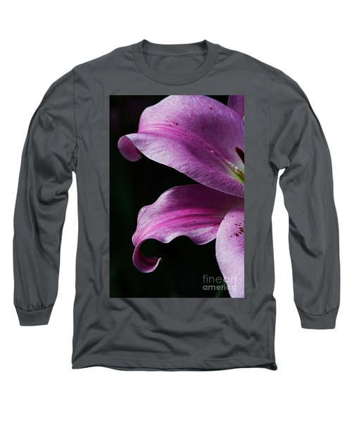Profile In Pink Long Sleeve T-Shirt by Cindy Manero