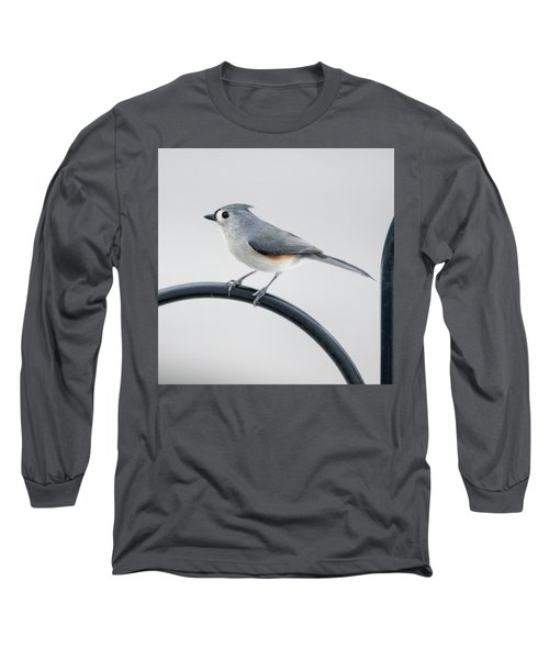 Profile Of A Tufted Titmouse Long Sleeve T-Shirt