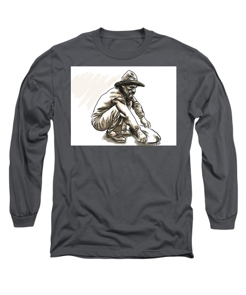 Long Sleeve T-Shirt featuring the digital art Prospector by Antonio Romero