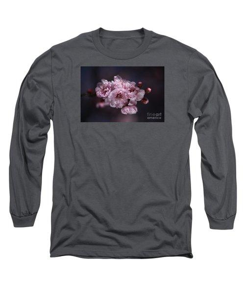 Prunus A Pink Spring Long Sleeve T-Shirt by Joy Watson