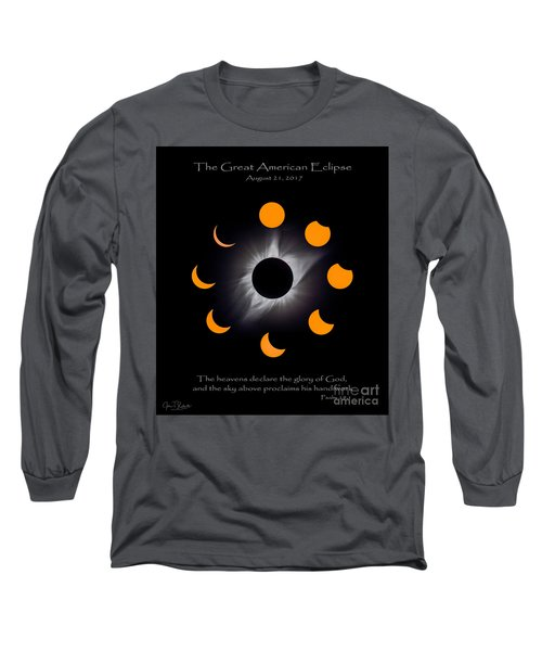 Psalm Nineteen Solar Eclipse Long Sleeve T-Shirt