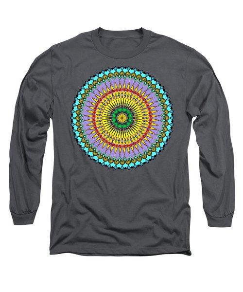 Psychedelic Mandala 005 A Long Sleeve T-Shirt by Larry Capra