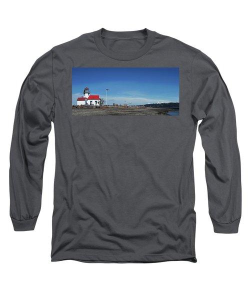 Pt Robinson Lighthouse 2, Maury Island, Washington Long Sleeve T-Shirt
