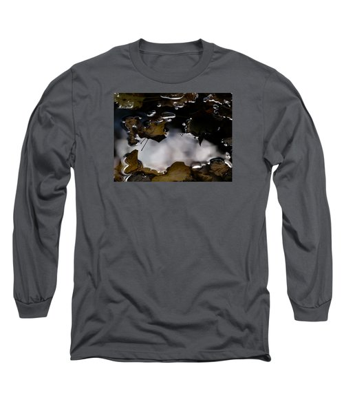 Puddle Of Leaves Long Sleeve T-Shirt by Jane Ford