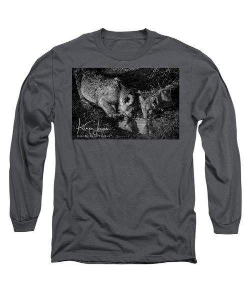 Long Sleeve T-Shirt featuring the photograph Puddle Time by Karen Lewis