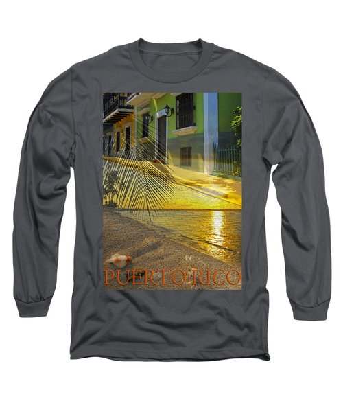 Puerto Rico Collage 3 Long Sleeve T-Shirt by Stephen Anderson