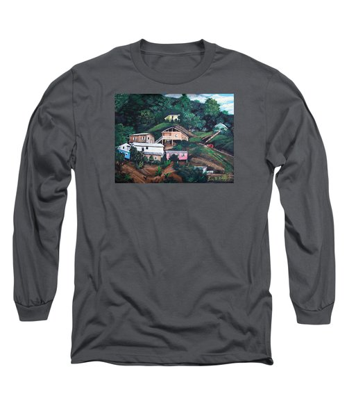 Puerto Rico Mountain View Long Sleeve T-Shirt by Luis F Rodriguez