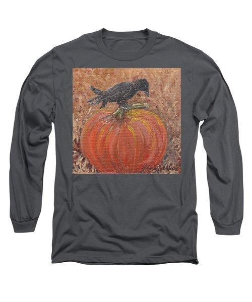 Pumpkin Crow Long Sleeve T-Shirt
