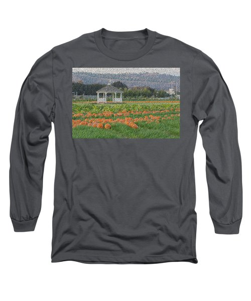 Pumpkin Field Long Sleeve T-Shirt