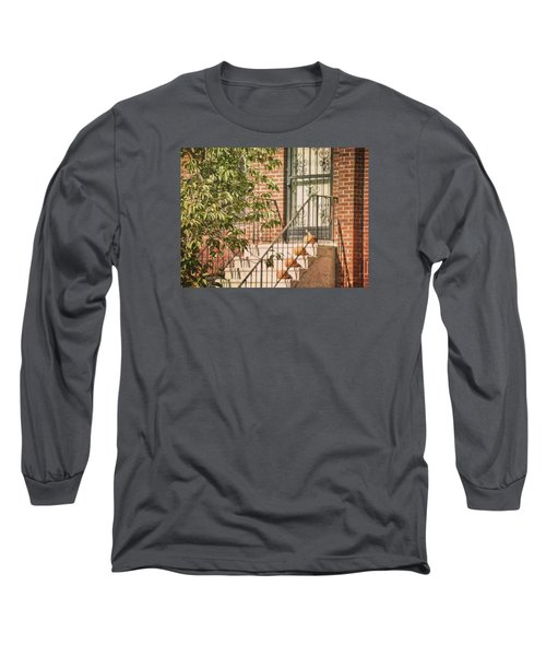 Pumpkin Portico Long Sleeve T-Shirt by JAMART Photography