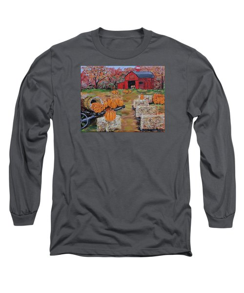 Pumpkin Time Long Sleeve T-Shirt by Mike Caitham
