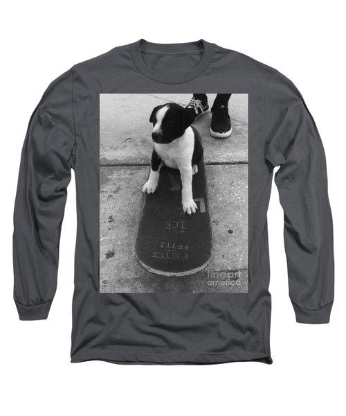 Puppy Skater Long Sleeve T-Shirt by WaLdEmAr BoRrErO