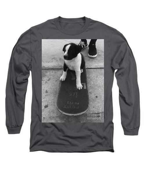 Puppy Skater Long Sleeve T-Shirt
