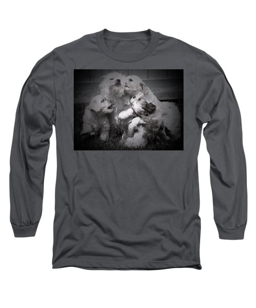 Puppy Vignette Long Sleeve T-Shirt