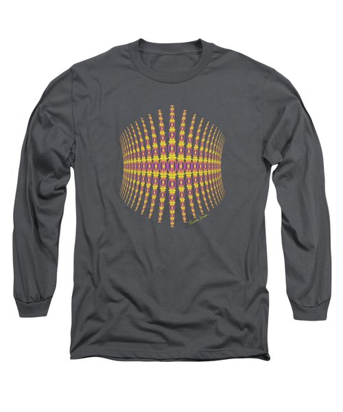 Purple And Gold Crown Long Sleeve T-Shirt