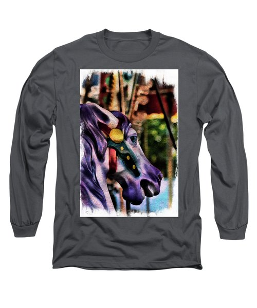 Purple Carousel Horse Long Sleeve T-Shirt
