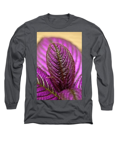 Purple Coleus Long Sleeve T-Shirt