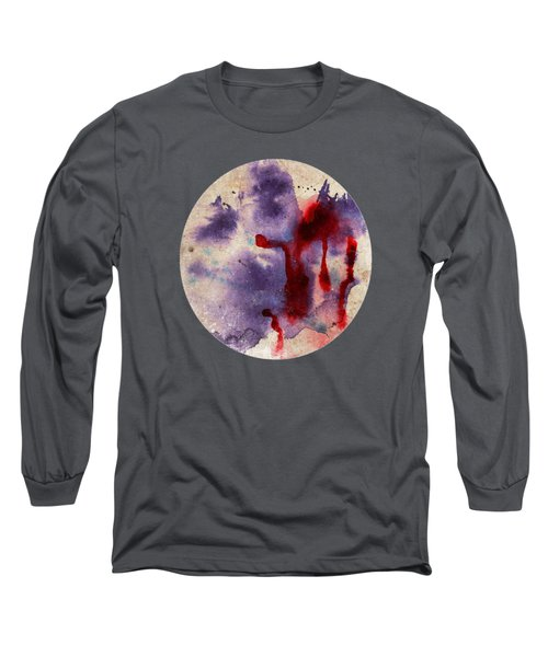Purple Color Splash Long Sleeve T-Shirt