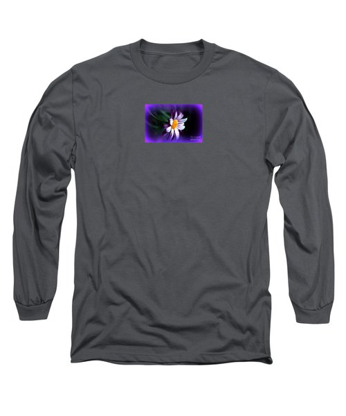 Long Sleeve T-Shirt featuring the photograph Purple Daisy Flower by Susanne Van Hulst