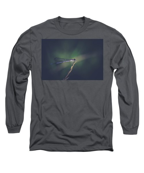 Long Sleeve T-Shirt featuring the photograph Purple Damsel by Shane Holsclaw