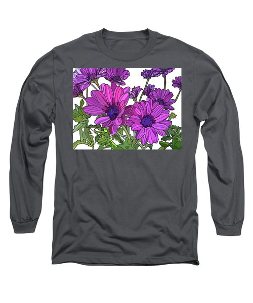 Purple Days Long Sleeve T-Shirt by Jamie Downs
