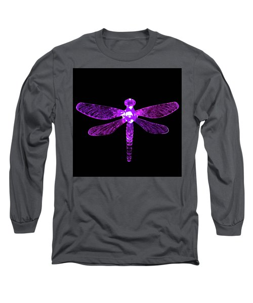 Purple Dragonfly Long Sleeve T-Shirt