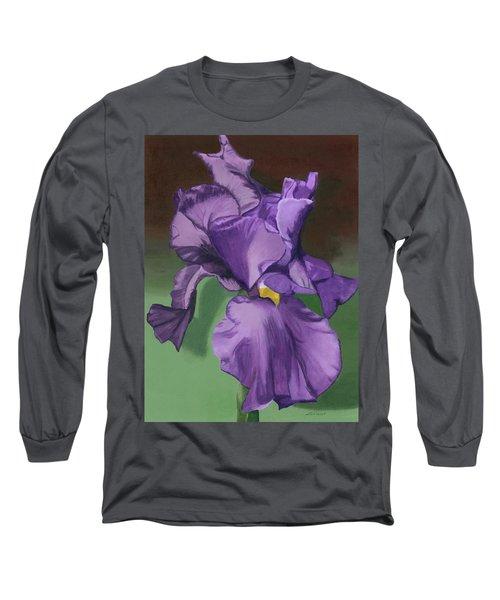 Purple Fantasy Long Sleeve T-Shirt by Lynne Reichhart