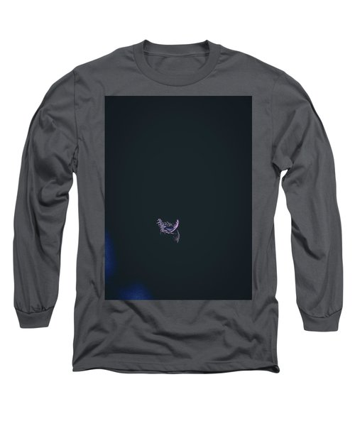 Long Sleeve T-Shirt featuring the photograph Purple Feather1 by Timothy Latta