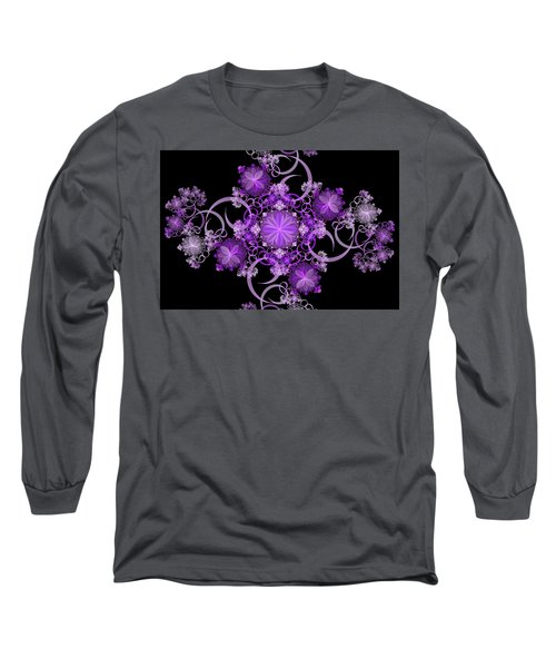 Long Sleeve T-Shirt featuring the photograph Purple Floral Celebration by Sandy Keeton
